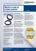 Solution: Metal bellows seal MFL65 in crude oil residue products